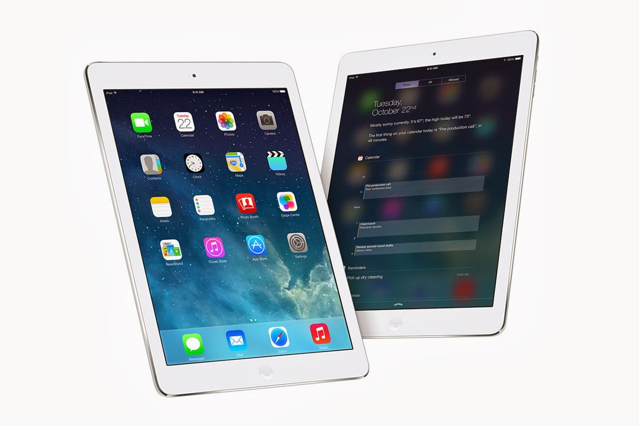 iOS на Apple iPad Air